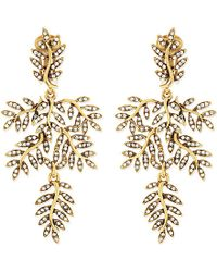 Oscar de la Renta - Metallic Leaf Earrings - For Women - Lyst