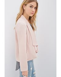 Forever 21 | Pink Draped Collar Blazer You've Been Added To The Waitlist | Lyst