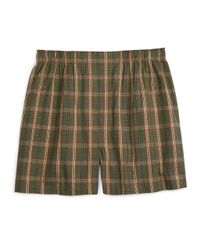 Brooks Brothers | Green Traditional Fit Signature Tartan Boxers for Men | Lyst