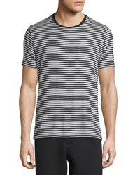 ATM - Gray Striped Short-sleeve Crewneck T-shirt for Men - Lyst
