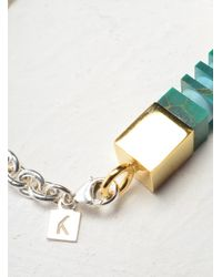 Lily Kamper | Green Side Column Bracelet - Last One | Lyst