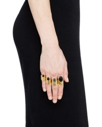 Ela Stone | Black 'lior' Onyx Hematite Four Ring Set | Lyst