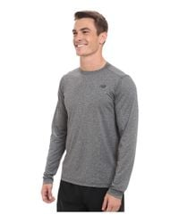 New Balance | Black Long Sleeve Heather Tech Tee for Men | Lyst