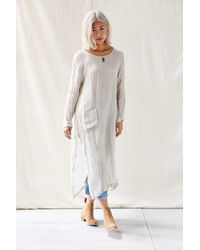 Urban Renewal | White Long Sleeved Tunic Dress | Lyst