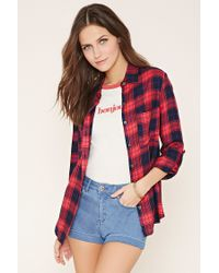 Forever 21 | Red Tartan Plaid Shirt | Lyst