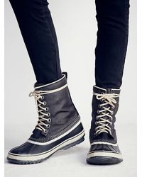 Free People | Black 1964 Canvas Weather Boot | Lyst