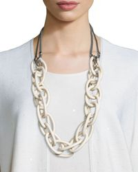 Lafayette 148 New York | Metallic Long Twisted-link Necklace | Lyst