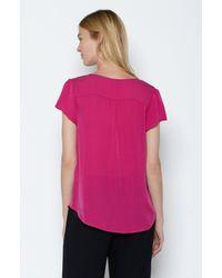 Joie | Pink Ederra Silk Top | Lyst