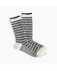 J.Crew | Blue Check Trouser Socks | Lyst