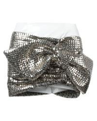 Faith Connexion - Metallic Bow Detail Mini Skirt - Lyst