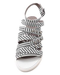 LD Tuttle - White The Color Strappy Sandals Striped  - Lyst