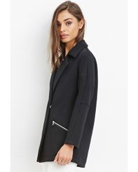 Forever 21 - Black Dropped-sleeved Boxy Jacket - Lyst
