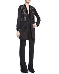 Maiyet - Black High-waisted Flared Pants - Lyst