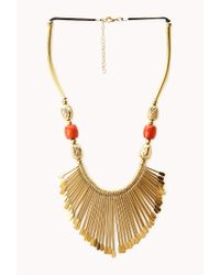 Forever 21 | Metallic Artifact Bib Necklace | Lyst