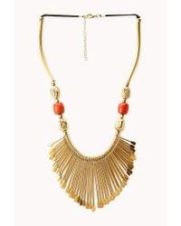 Forever 21   Metallic Artifact Bib Necklace   Lyst