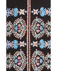 Vilshenko - Black Wool Embroidered Imogen Skirt - Lyst