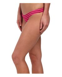 Volcom | Pink Broken Lines Tiny Bottoms | Lyst