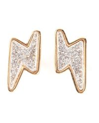 Marc By Marc Jacobs | Metallic Lightning Bolt Earrings | Lyst