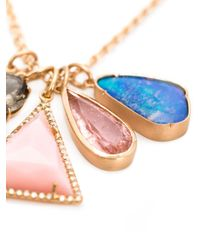 Irene Neuwirth - Pink 18kt Gold And Mixed Gemstone Necklace - Lyst