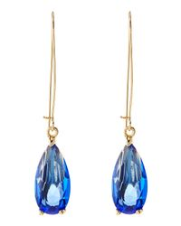 Fragments - Blue Faceted Crystal Drop Earrings - Lyst