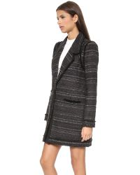 Rachel Zoe - Aria Long Fringe Coat  Black - Lyst