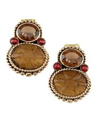 Stephen Dweck | Metallic Garnet-Quartz Piggyback Earrings | Lyst