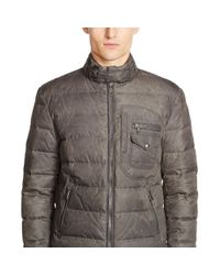 Ralph Lauren Black Label - Gray Recruiter Waxed Down Jacket for Men - Lyst