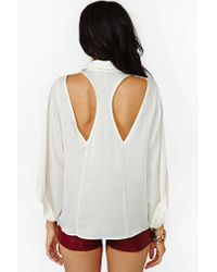 Nasty Gal - Natural Sleepless Nights Blouse - Lyst