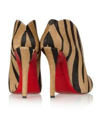 Christian Louboutin   Brown Zappa Suede Spiked Red Sole Pump   Lyst