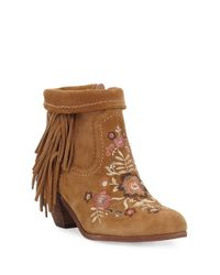 Sam Edelman - Brown Pax Embellished Ankle Boot - Lyst
