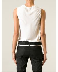 Ann Demeulemeester - White Jagged Neck Tank Top - Lyst