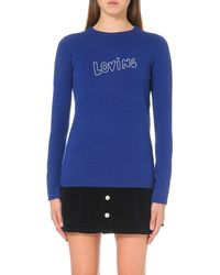 Bella Freud | Blue Loving Cashmere Jumper | Lyst