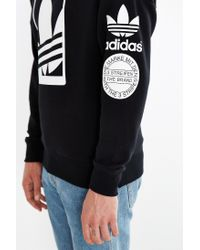 Adidas - White Originals Box Trefoil Graphic Sweatshirt for Men - Lyst