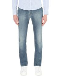 Armani Jeans | Blue Slim-fit Light Wash Jeans for Men | Lyst