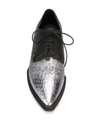 Vic Matié   Black Lace-Up Leather Shoes   Lyst