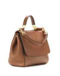 Dolce & Gabbana - Brown Sicily Leather Tote - Lyst