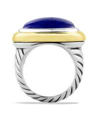 David Yurman - Blue Waverly Ring with Lapis Lazuli Gold - Lyst