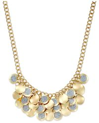 Style & Co. | Metallic Glitter Shaky Paillette Necklace | Lyst