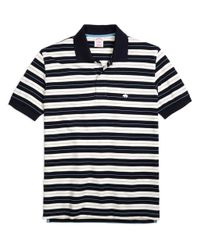 Brooks Brothers | Blue Original Fit Tipped Collar Stripe Polo Shirt for Men | Lyst