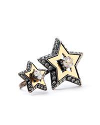 Lanvin - Metallic Altair Double Star Ring - Lyst