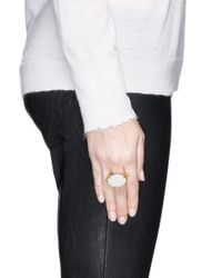Ela Stone | Metallic 'jane' Oval Chain Stone Ring | Lyst
