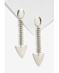 Nasty Gal | White Bad To The Bone Scale Earrings | Lyst