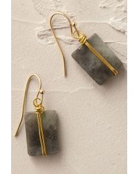 Anthropologie | Blue Wrapped Quartz Earrings | Lyst