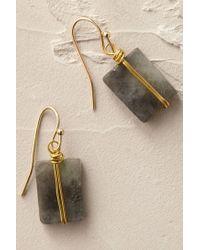 Anthropologie | Blue Wrapped Quartz Earrings | Lyst