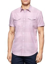 Calvin Klein | Purple Corded Ombre Gingham Check Sportshirt for Men | Lyst