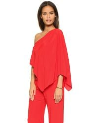 Ramy Brook - Red Olsen Silk Jumpsuit - Lyst