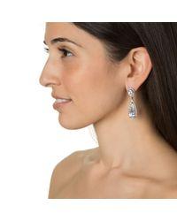 Kenneth Jay Lane | Metallic Crystal Teardrop Earrings | Lyst