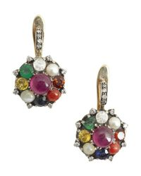 Amrapali - Metallic Dark Maharaja 9 Gems Collection Earring - Lyst