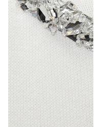 Jil Sander - White Embellished Cashmere Sweater - Lyst