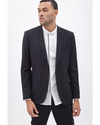 Forever 21 | Black Classic Two-button Blazer for Men | Lyst